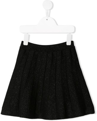 Alberta Ferretti Kids glitter detail flared skirt