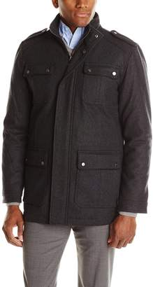 Ungaro Emanuel by Men's Wool Field Coat with Carbonite Trim
