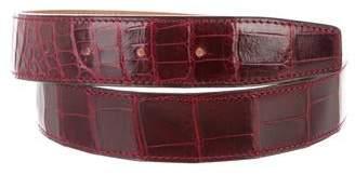 Hermes Porosus Crocodile Belt Strap