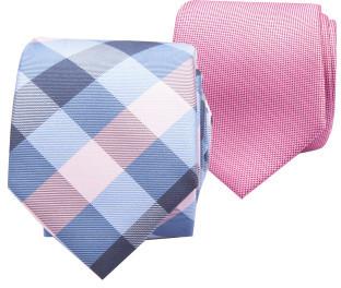 Geoffrey Beene 2pk 7cm Tie Set (Check/Geo)