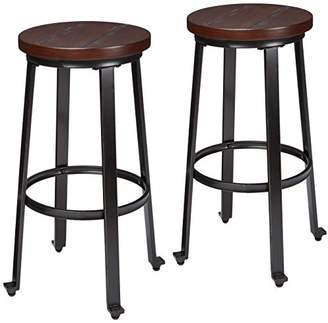 Signature Design by Ashley Ashley Furniture Signature Design - Challiman Bar Stool - Pub Height - Set of 2 - Rustic Brown