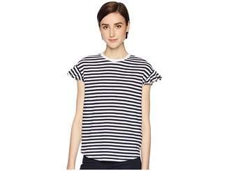 Kate Spade Stripe Ruffle Tee Women's T Shirt