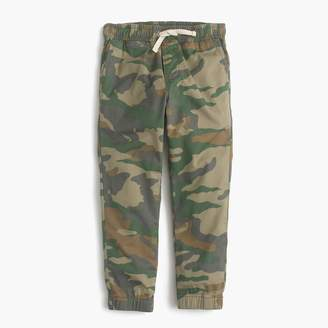 J.Crew Boys' pull-on pant in camo
