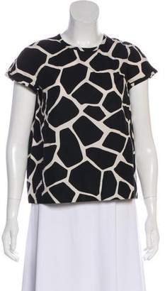 Max Mara 'S Animal Print Short Sleeve