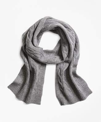 Merino Wool Cable Scarf $50 thestylecure.com