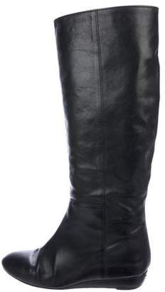 Loeffler Randall Leather Wedge Knee Boots