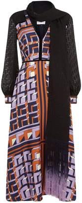 Amanda Wakeley Silk Asymmetric Hem Dress
