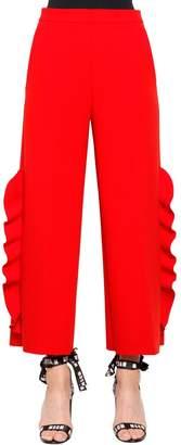 MSGM Ruffled Double Crepe Cady Pants