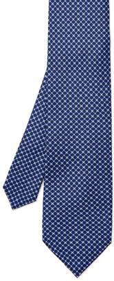 Italian Silk Tie in Floral Tile $95 thestylecure.com