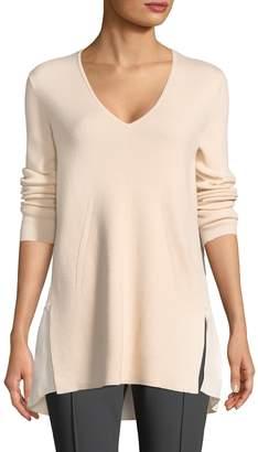 BCBGMAXAZRIA Women's Wool Blend Shona V-neck Sweater