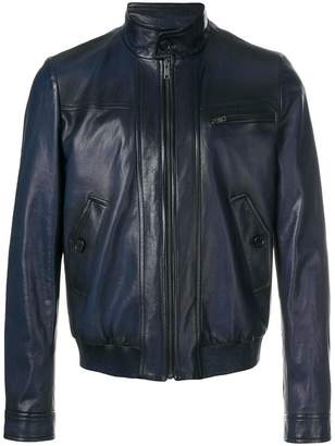 Prada classic moto leather jacket