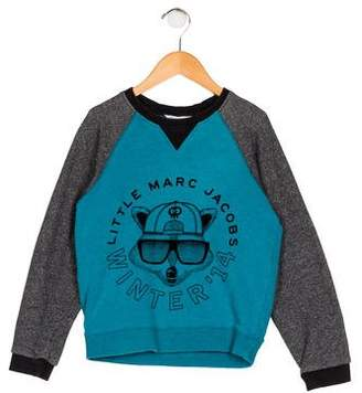 Little Marc Jacobs Boys' Velvet-Accented Knit Sweater