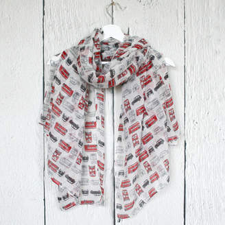 Hayley & Co London Bus And Taxi Print Scarf