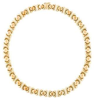 14K Textured Stampato Chain Necklace
