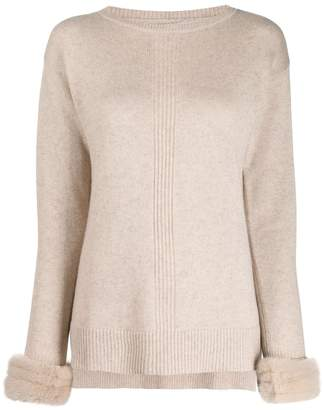 Max & Moi contrast cuff sweater