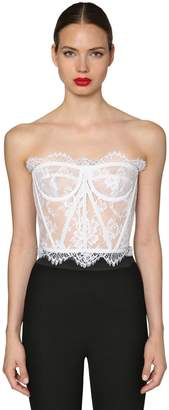 Dolce & Gabbana Chantilly Lace Bustier Top