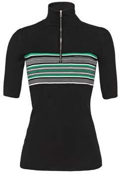 Prada Short-Sleeved Silk Sweater