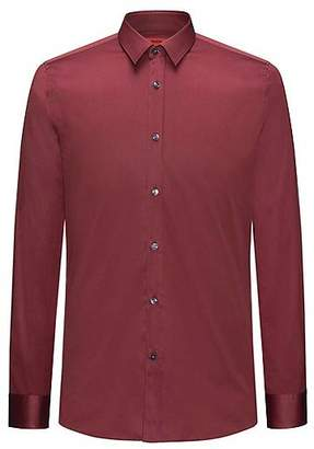 HUGO BOSS Extra-slim-fit shirt in cotton twill