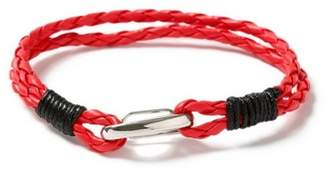 Topman Mens Red Leather Bracelet*