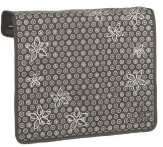 Lassig Changeable Frontcover with Velcro and zipper for Messenger Baby/Changing Bag, Flower Slate Grey