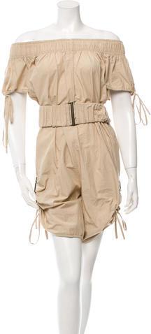 Stella McCartneyStella McCartney Short Sleeve Belted Jumpsuit