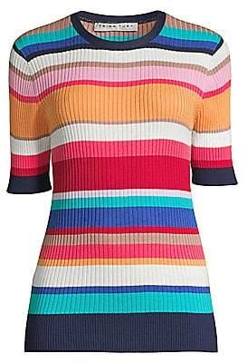 Trina Turk Women's The Tourist Striped Cotton Sweater