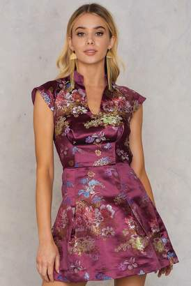 Glamorous Brocade Short Dress