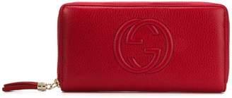 Gucci GG logo zip around wallet