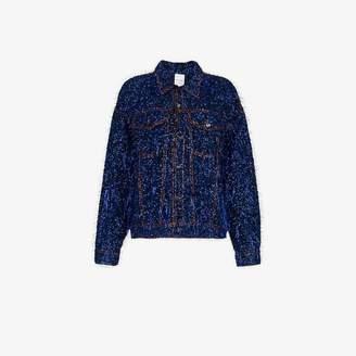 Ashish tinsel embellished denim jacket