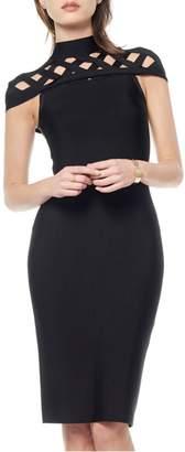 Gracia Black Bandage Dress