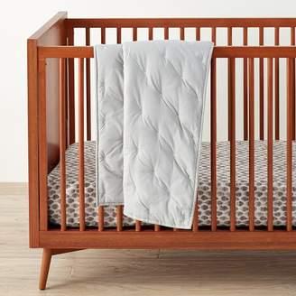 west elm Washed Cotton Toddler Quilt - Platinum