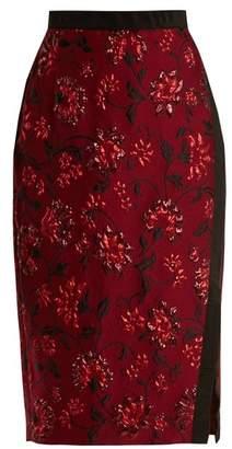 Altuzarra Sandrin floral-brocade pencil skirt