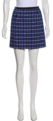 Marc Jacobs Wool-Blend Mini Skirt Blue Wool-Blend Mini Skirt