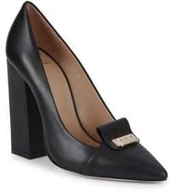Zac Posen Grayson Block-Heel Leather Pumps