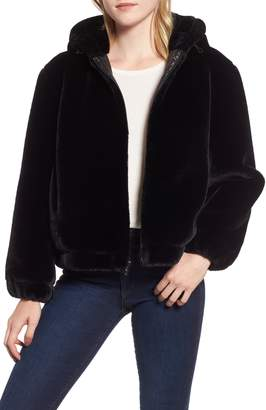 Andrew Marc Faux Fur Bomber Jacket