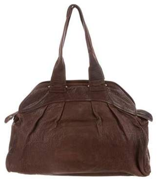 Marni Grained Leather Tote Brown Grained Leather Tote