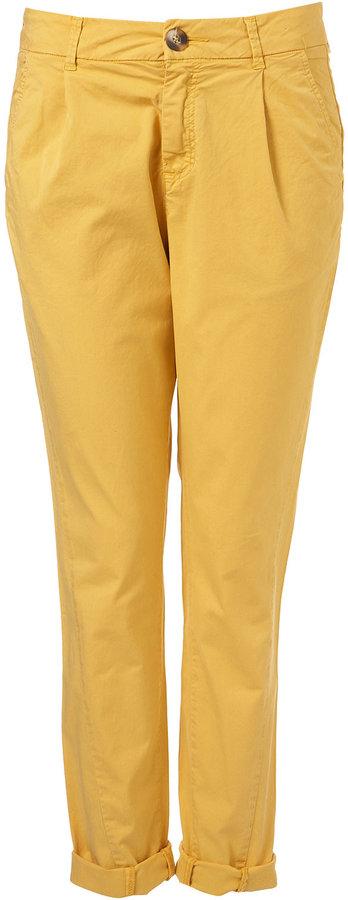 Bright Yellow Chino Trousers