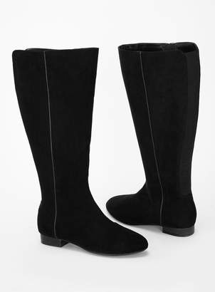 8fed7a8f986 Evans EXTRA WIDE FIT Black Knee High Boots