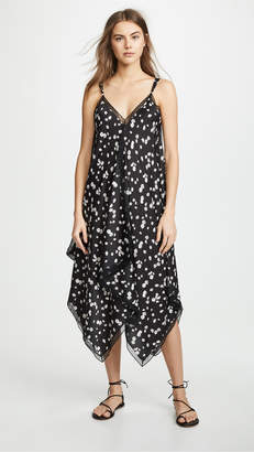 Jason Wu Grey Spring Daisy Print Handkerchief Dress