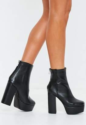 Missguided Black Extreme Platform Boots