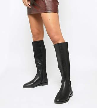 a49761d1e3c12 Asos Design DESIGN Wide Fit Cadence leather riding boots