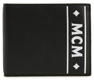 MCM Coburg Logo Stripe Leather Wallet