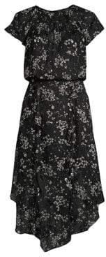 Parker Tegan Sheer Hankerchief Dress