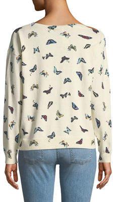 Joie Eloisa Butterfly-Print Pullover Sweater