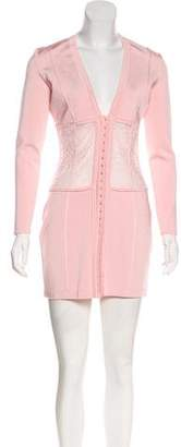 Balmain Paneled Bodycon Dress