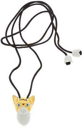 Lladro Cat Golden Animal Heroes Necklace