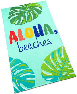 Martha Stewart Collection Aloha Beaches Cotton Graphic-Print Beach Towel