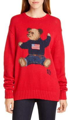 Polo Ralph Lauren Polo Bear Cotton & Linen Sweater