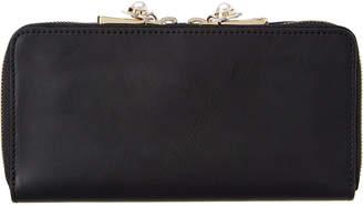 Zac Posen Checkbook Leather Wallet