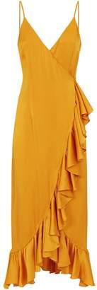 Shona Joy Oro Ruffle Wrap Dress